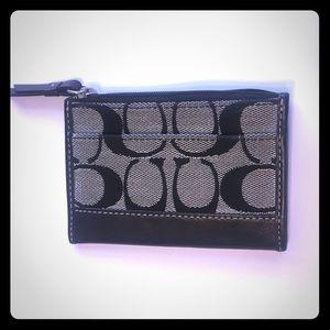 Authentic Coach wallet/key holder black
